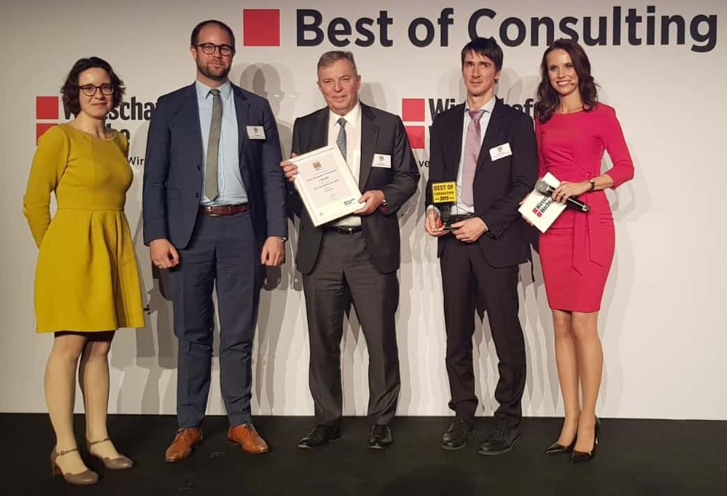 "BoC 2019 Operations Preisübergabe 1 - TARGUS repeats in both categories of Wirtschaftswoche's ""Best of Consulting"" Awards"