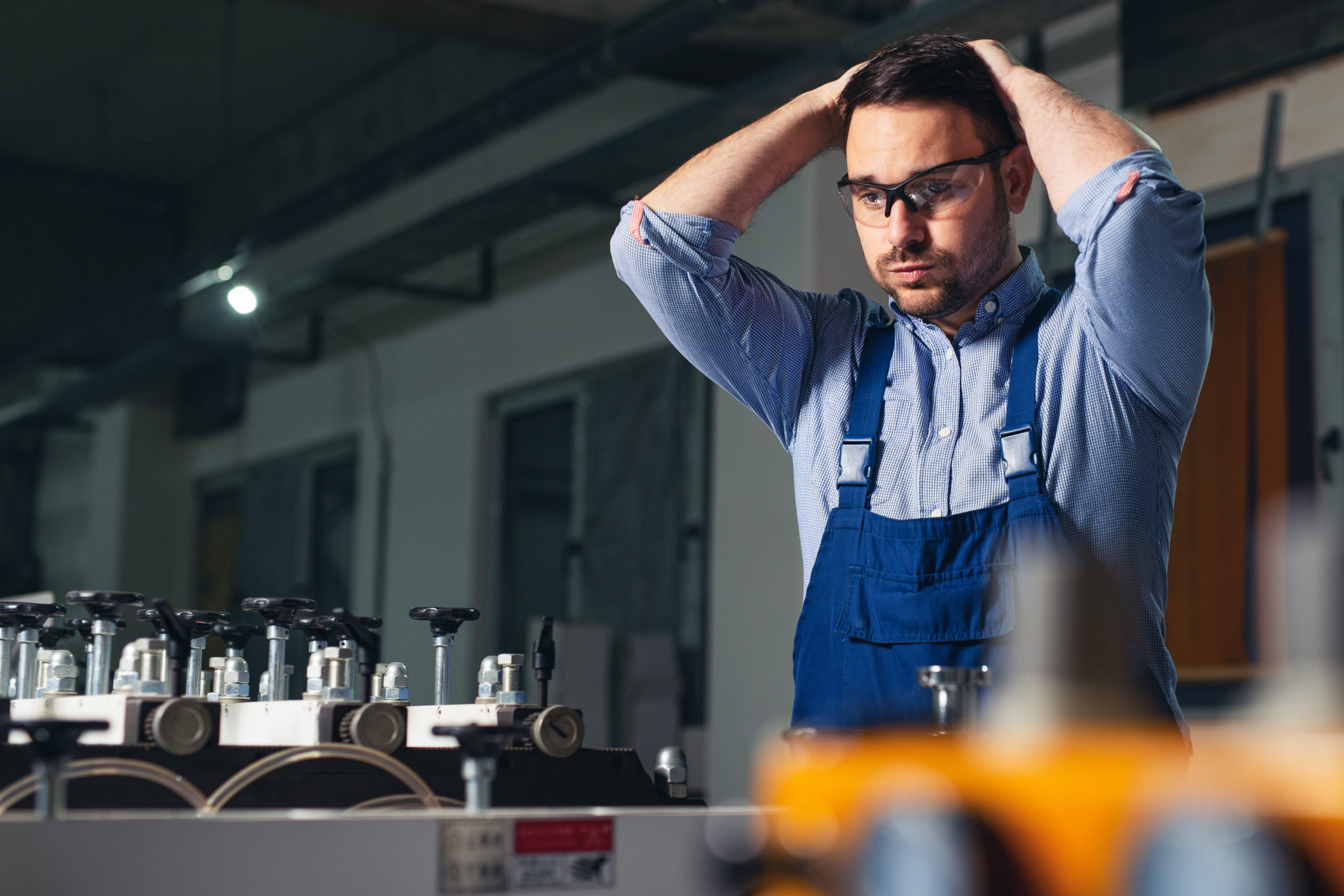 AdobeStock 314062630 Factory Worker Can Not Believe it scaled - Secure Your Supply to Remain Competitive